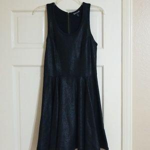 Leather like dress